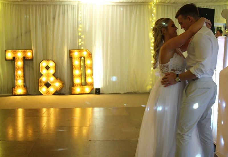 Rustic Letters in Marquee