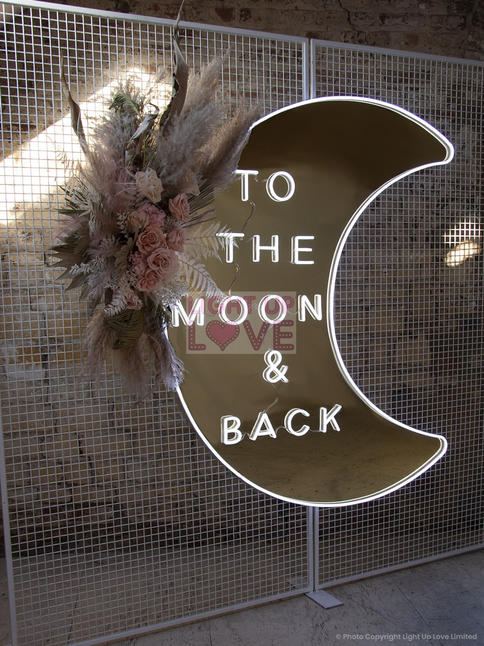 To the Moon and Back Neon Sign Hire