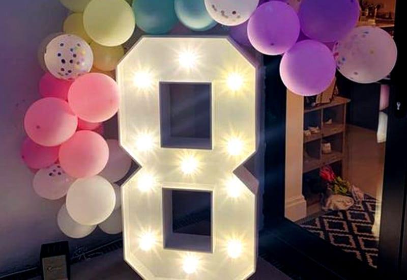 Light Up Number 8
