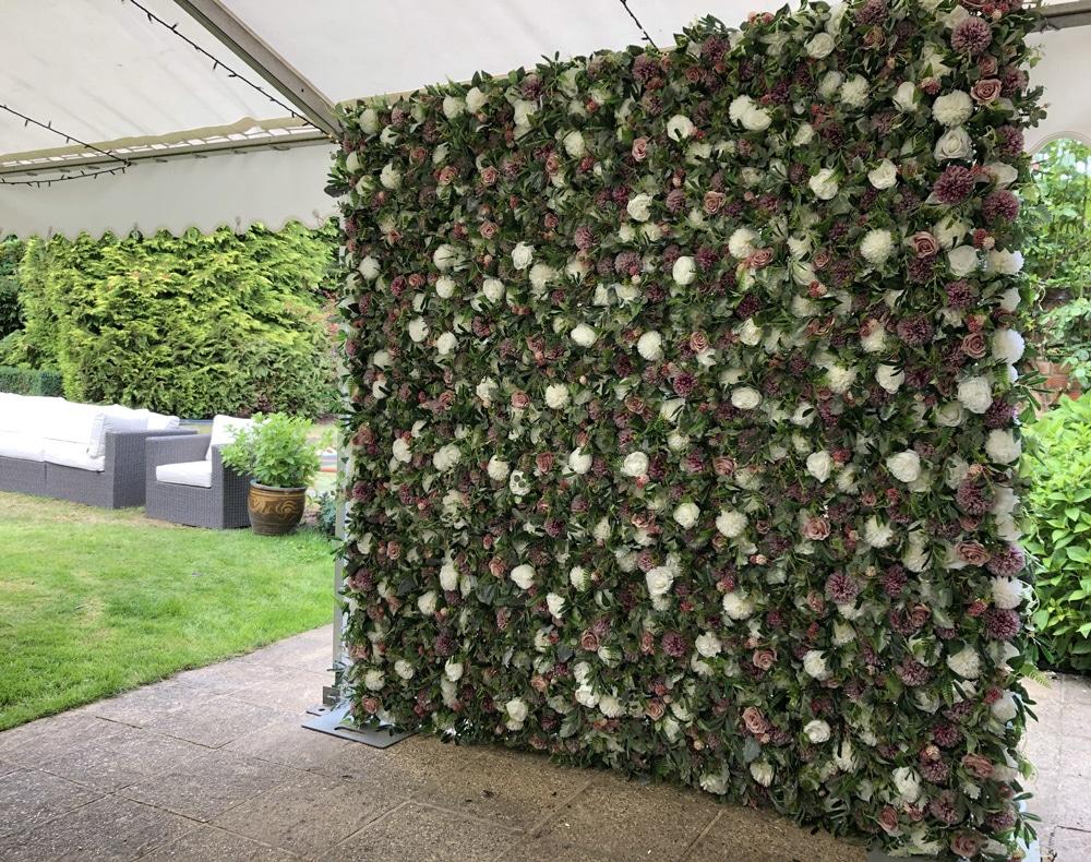 English Garden Flower Wall