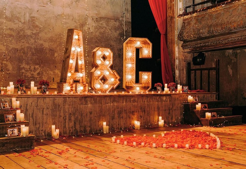 Light Up Letters for Proposal