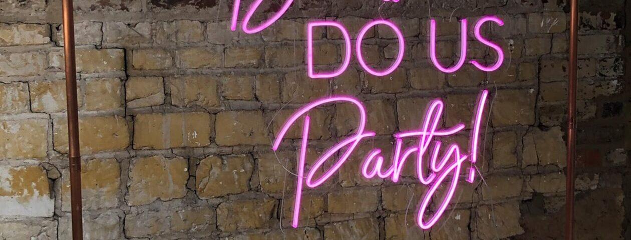 Til Death Do Us Party Neon Sign