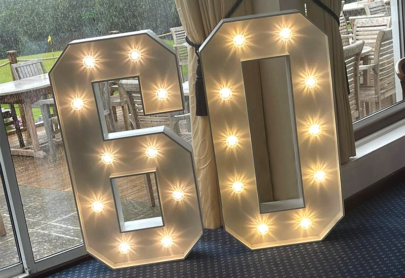 Light Up 60 Numbers Hertfordshire