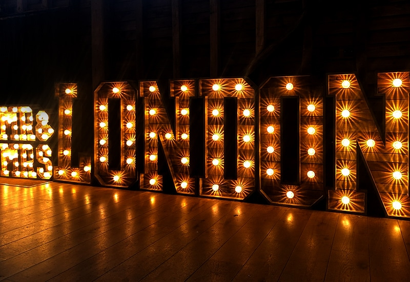 Rustic Light Up Surname