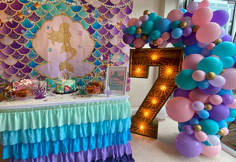 Rustic Light Up Numbers for Children's Birthdays